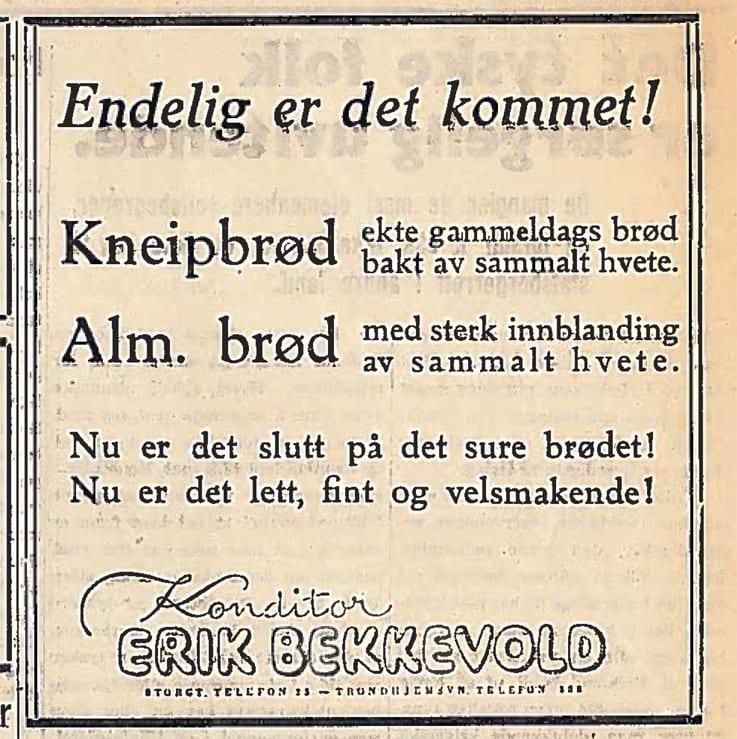 """Fra """"Velgeren"""" lørdag 14. juli 1945."""