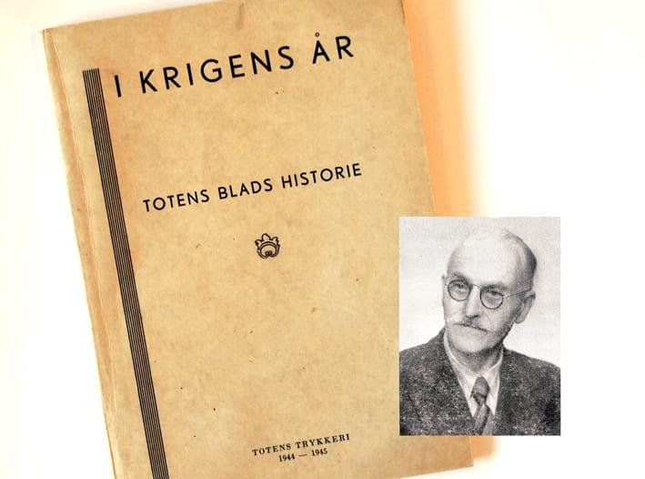 Redaktør Olaf Rossow og en bok om krigens år