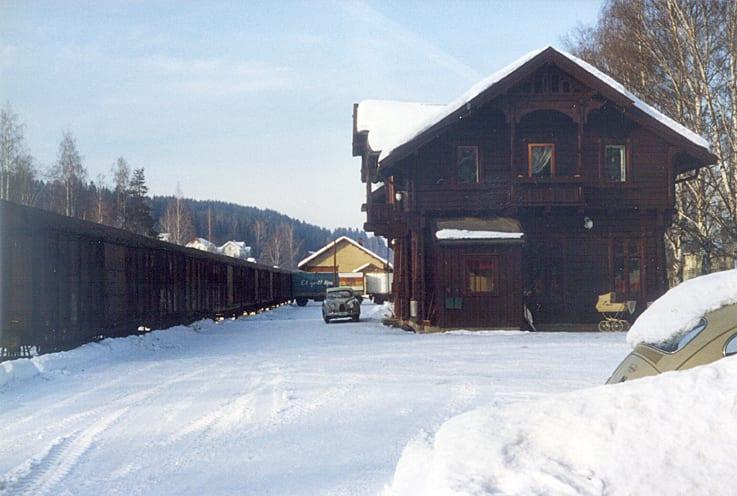 Skreia stasjon, trolig på 70-tallet.