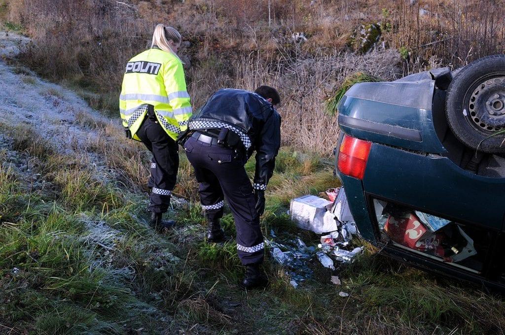 En stasjonsvogn fullastet med øl og sprit gikk rundt på Toten i 2013. Sjåføren stakk av, og ble aldri funnet.